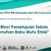 Webinar Series #4: Pertek Pemenuhan Baku Mutu Emisi